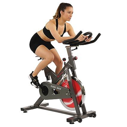 e01cc8ccbb8 Sunny Health   Fitness Belt Drive Indoor Cycling Bike - 44 lb Flywheel