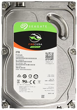 2 TB FireCuda Gaming SSHD 2.5 Inch Internal Solid State Hybrid Drive for PC and PS4 Seagate  ST2000LX001 Silver