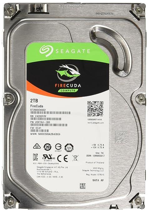 SATA 6Gb//s 64MB Ca Seagate 2TB FireCuda Gaming SSHD Solid State Hybrid Drive