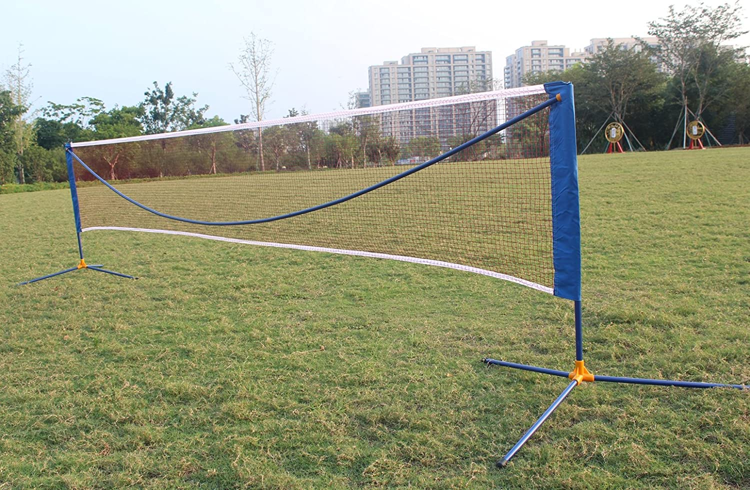 KLB Sport Large Portable Badminton Volleyball Tennis Net Set with Stand//Frame