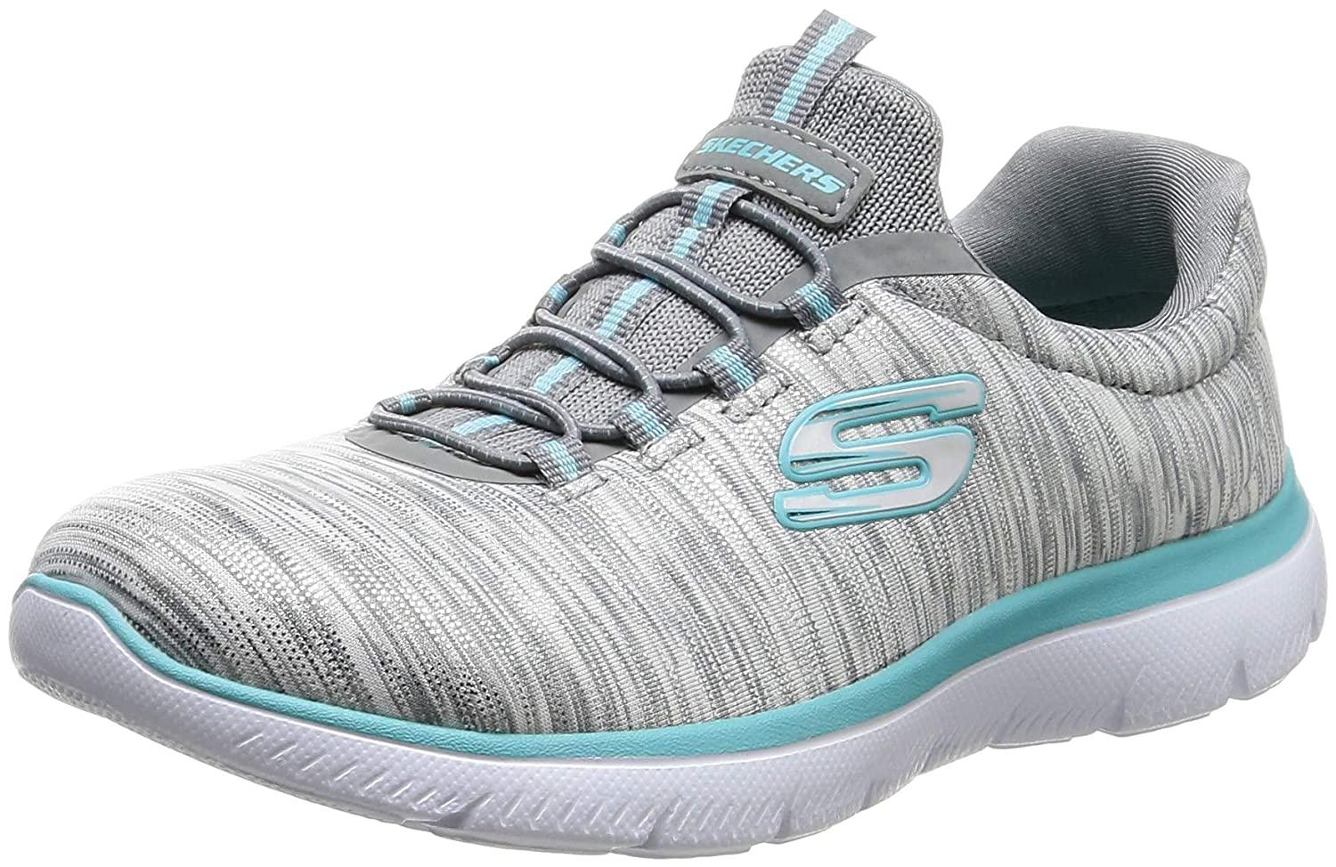 Grey Light bluee Skechers Womens Summits-Light Dreaming Sneaker