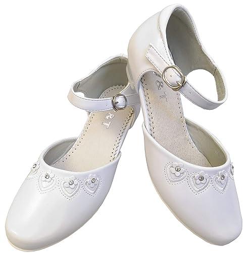 113050ec5c6320 deine-Brautmode Kommunionschuhe Strass Schuhe Kommunion Festliche Kinderschuhe  weiß