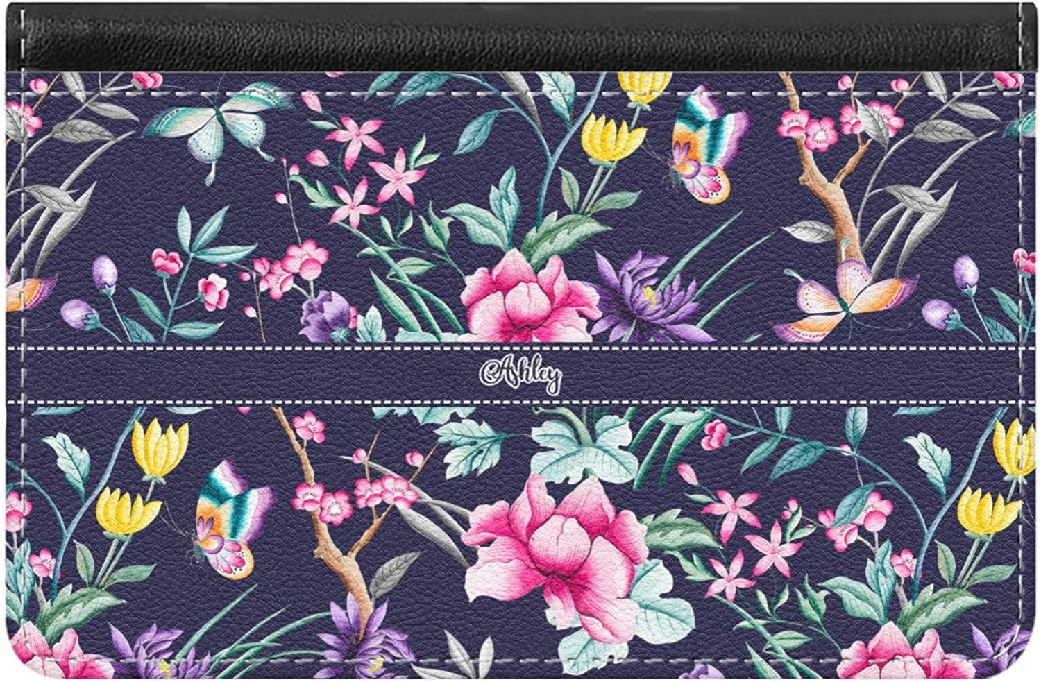 Personalized Chinoiserie Genuine Leather Ladies Wallet