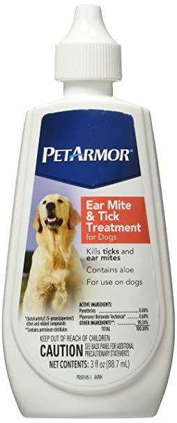 Amazoncom Petarmor Ear Mite And Tick Treatment For Dogs 3 Oz