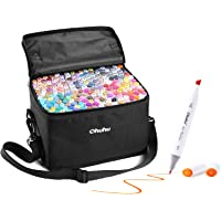 200 Colors Alcohol Art Markers Set, Ohuhu Dual Tips (Fine & Chisel) Coloring Marker Pens for Kids, Alcohol-based Drawing Markers for Sketch Adult Coloring, 200 Unique Colors + 1 Colorless Blender