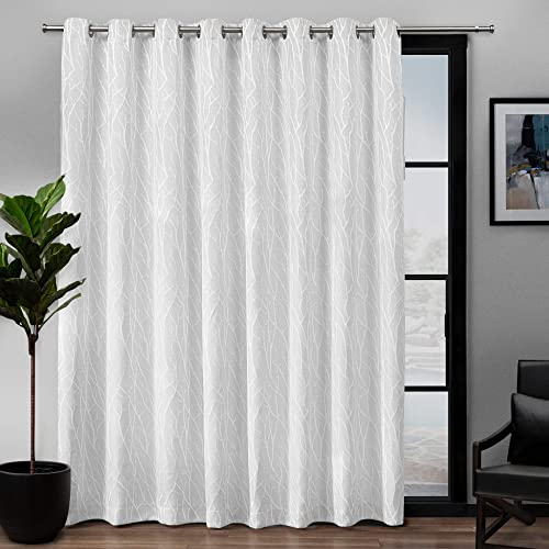 Exclusive Home Curtains Forest Hill Woven Blackout Grommet Top Single Curtain Panel