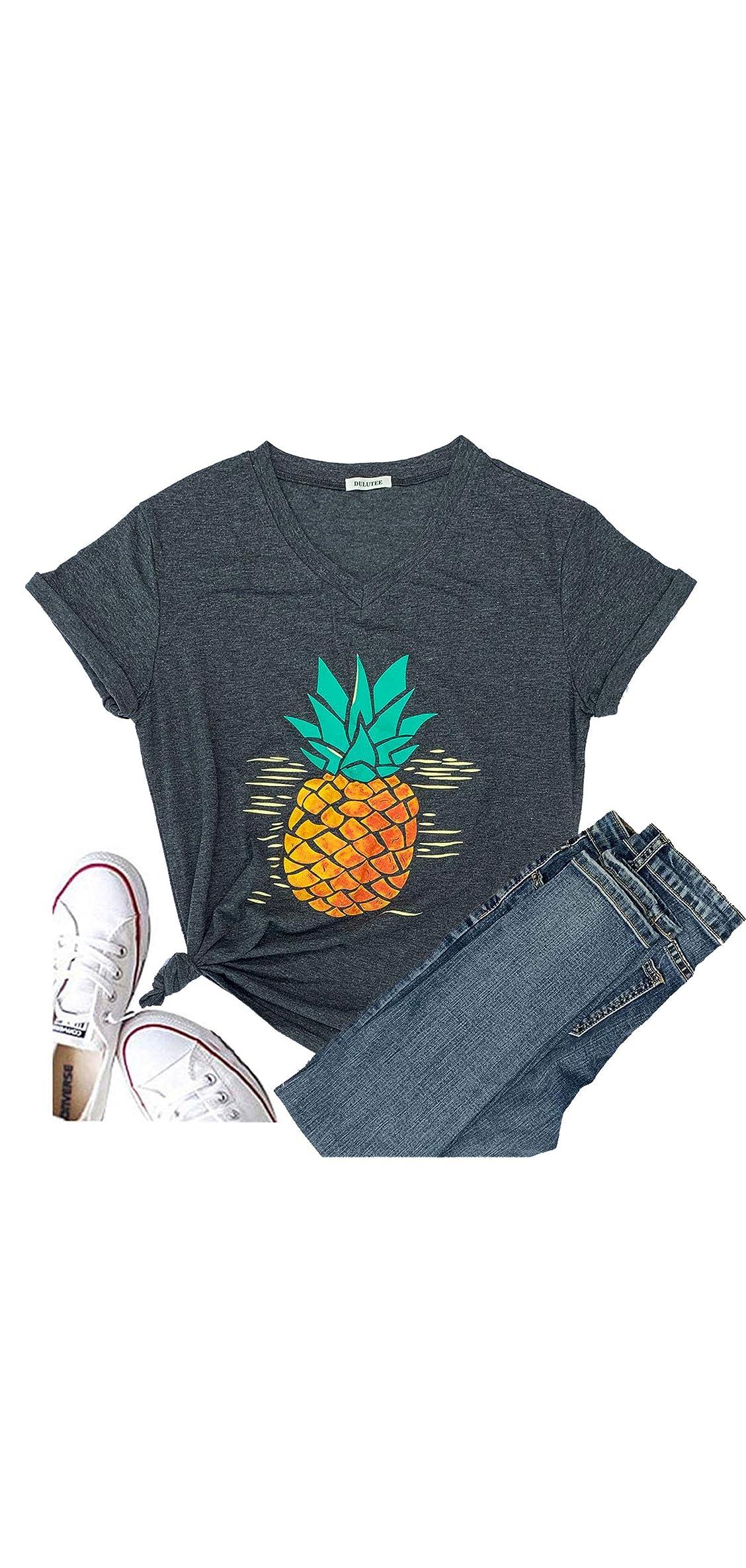 Pineapple Women's Funny Christmas Cute T Shirt Lover