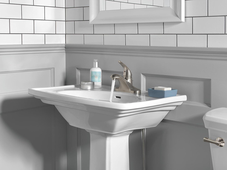 Delta Foundations B510LF-SS Single Handle Centerset Bathroom Faucet ...