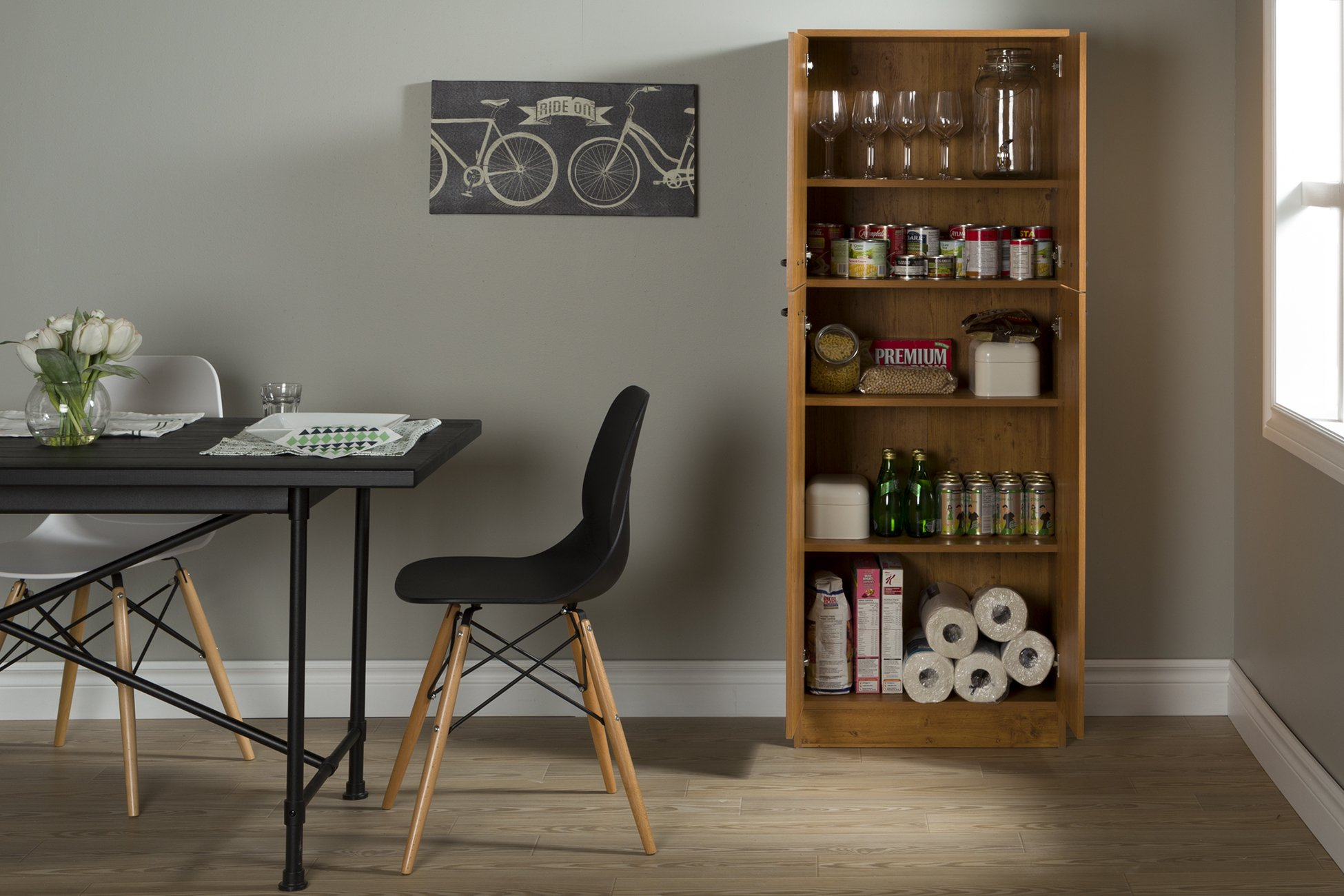 South Shore Axess 4-Shelf Pantry Storage, Country Pine by South Shore (Image #5)