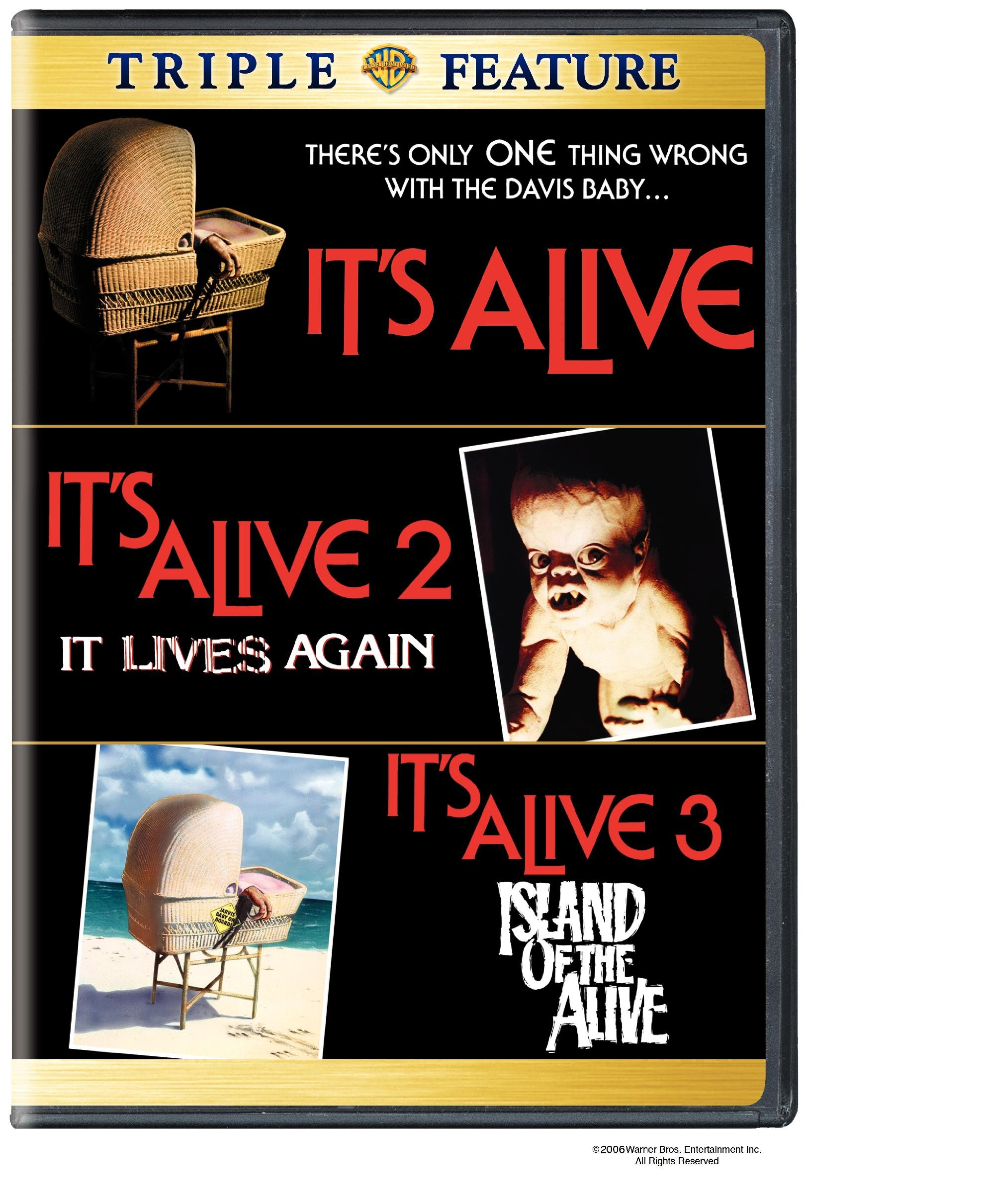DVD : It's Alive / It Lives Again / It's Alive III: Island of the Alive (2 Disc)