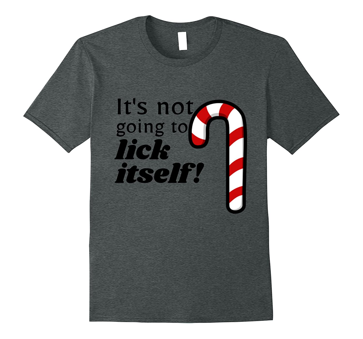 Christmas Adult Funny Candy Cane Lick T-Shirt Humor-FL