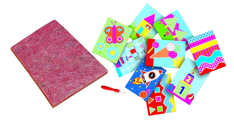 SES Le kit Japprends /à poin/çonner travaux manuels multicolore