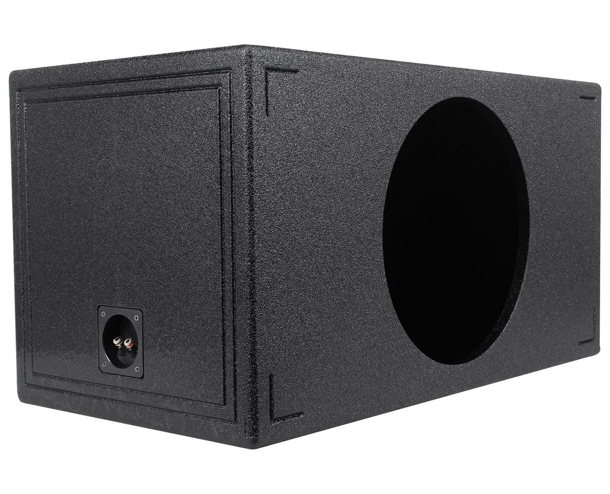Q Power QBOMB15VL SINGLE Single 15-Inch Side Vented Speaker Box with Durable Bed Liner Spray by Q Power (Image #3)