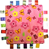 Taggies Little Taggies Blanket, Pink Flowers and Butterflies, Discontinued By Manufacturer