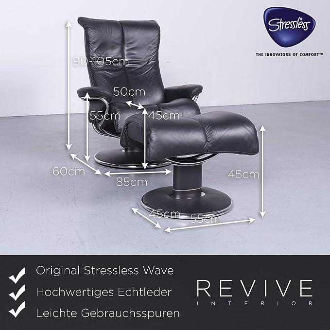 Stressless Wave Designer Leder Sessel Schwarz Echtleder ...