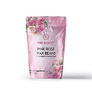 Wax Beans Hard Wax Beads Complete Kit for Painless Hair Removal 10 Extra Waxing Spatula Applicator for Bikini Area, Face, Legs, Eyebrow, Body Pearl Wax Warmer and Brazilian Wax - 1lb