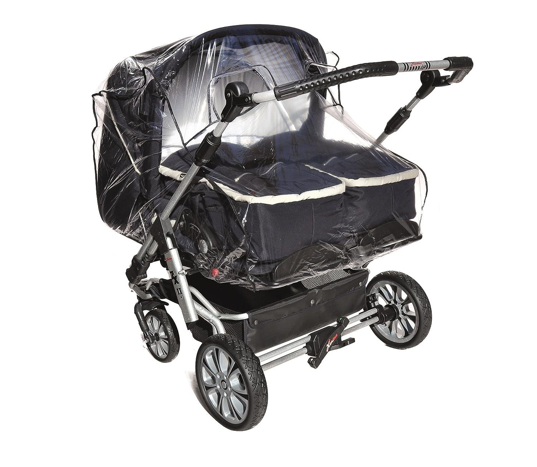 Regenschutz Kinderwagen Asmi XL Regenhaube Regenverdeck Regenhülle Wetterschutz