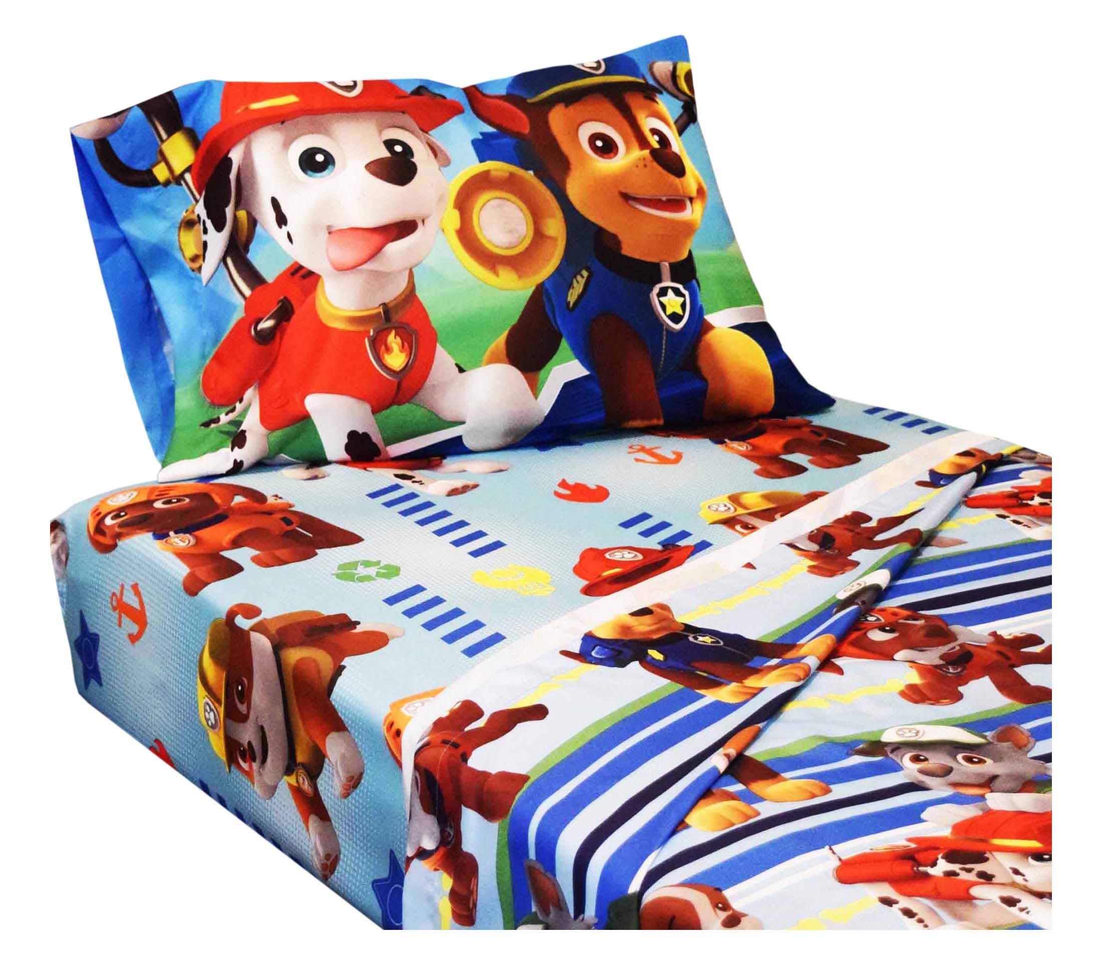 Kohl's Paw Patrol 4 Piece Full Bed Sheets - Chase, Marshall, Rubble, Zuma - Kids Microfiber Bedding Set
