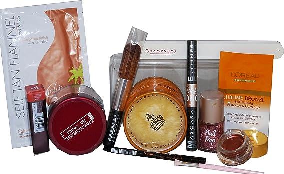 Juego de oro rosa y bronce estuche de maquillaje, Inc, niña, elegante, Loreal & Champneys: Amazon.es: Belleza