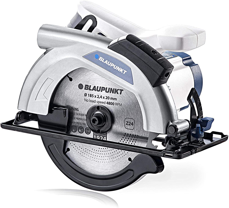 Blaupunkt Sierra Circular Eléctrica CZ3000 - 1300W Motor - 4800rpm - Cuchilla 185mm - Profundidad de Corte 65mm - Guía Láser
