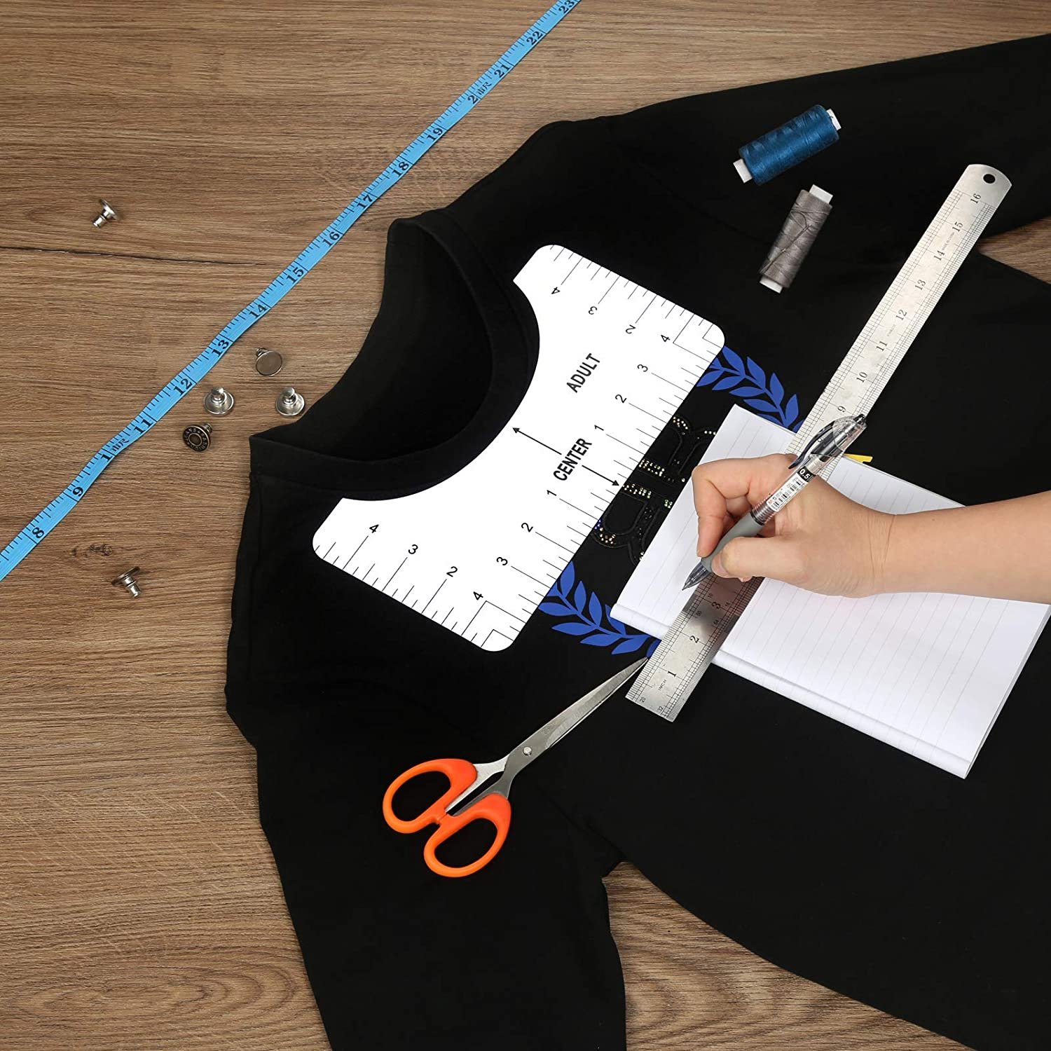 T Shirt Ruler Guide Alignment Tool for to Center Designs Vinyl Alignment Placement Heat Press Set Bunle Adult All Size Iron On 4 Rulers