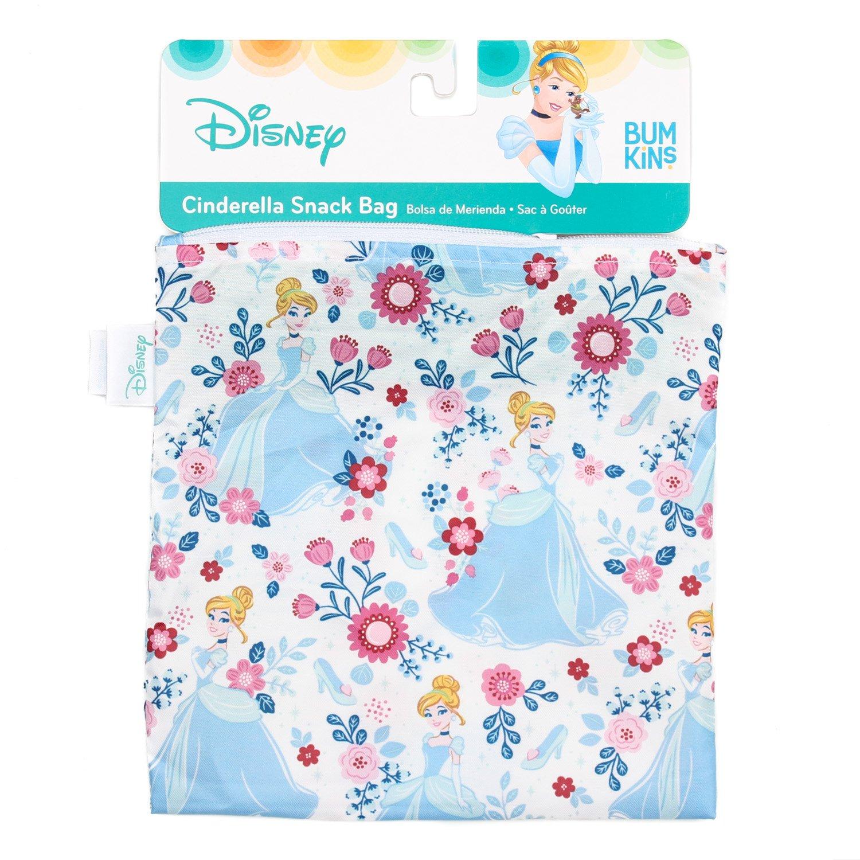 Bumkins Disney Cinderella Sandwich Bag / Snack Bag, Reusable, Washable, Food Safe, BPA Free, 7x7