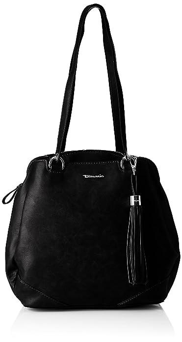 Melanie Tamaris black Damen Backpack Rucksackhandtasche Schwarz FHwAnxOqHZ