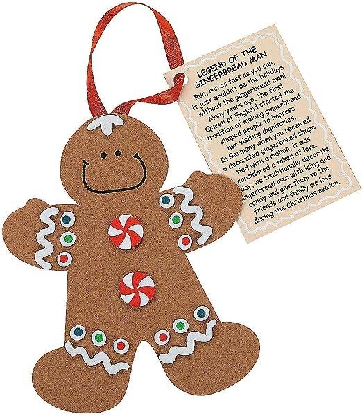 Fun Express Legend of The Gingerbread Man Foam Ornament Craft Kit-Makes 12