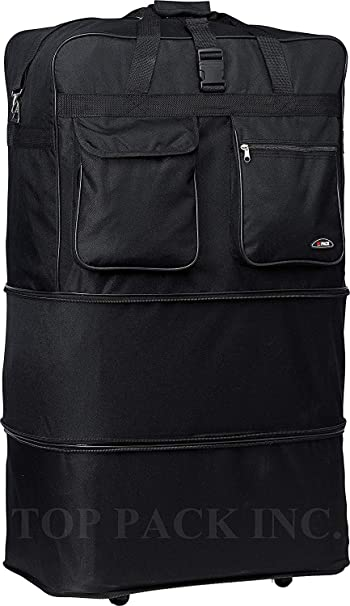 Amazon.com: 30/36/40 Rolling Wheeled Duffle/Duffel Bag ...