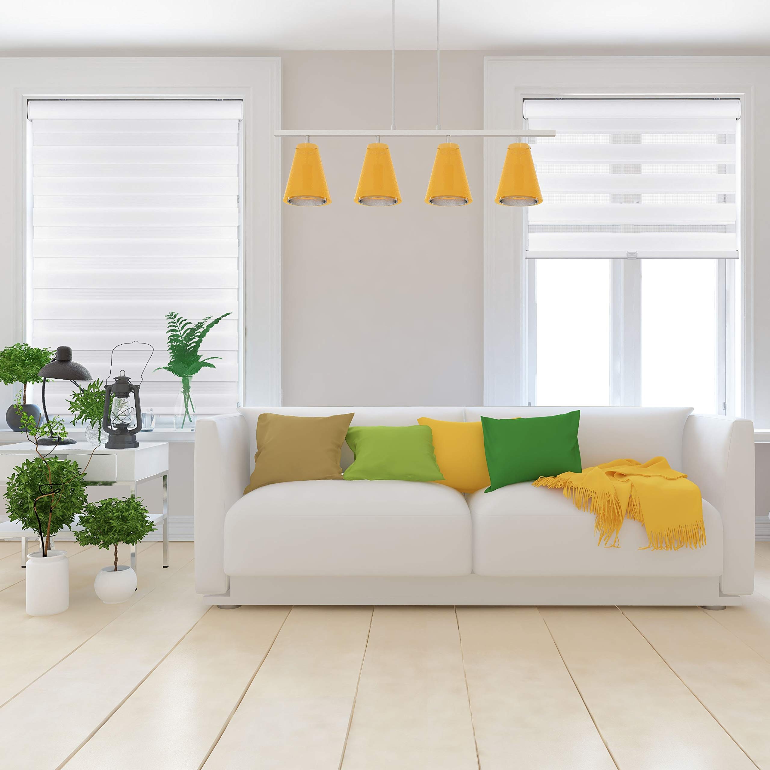 Arlo Blinds Cordless Zebra Roller Shades 24'' W x 60'' H, White Horizontal Window Blinds by Arlo Blinds