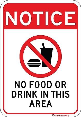 Amazon.com: Señal sin alimentos ni bebidas en esta zona ...