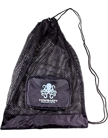 Kraken Aquatics Compact Mesh Gear Bag | for Scuba Diving, Snorkeling, Swimming, Beach