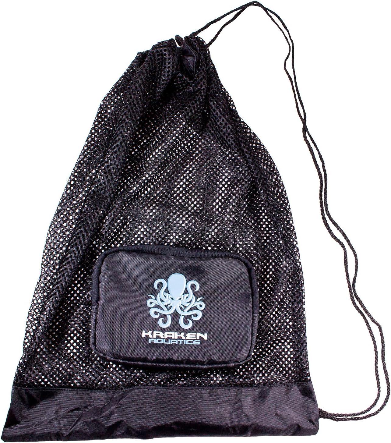 Kraken Aquatics Compact Mesh Gear Bag | for Scuba Diving, Snorkeling, Swimming, Beach and Sports Equipment : Sports & Outdoors