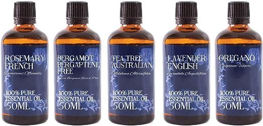 Mystic Moments – Pack de iniciación de aceite esencial – piel transparente – 5 x 50 ml – 100% puro: Amazon.es: Hogar