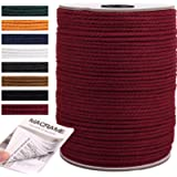 NOANTA Wine Red Macrame Cord 3mm x 220yards, Colored Macrame Rope, 3 Strand Twisted Cotton Rope Macrame Yarn, Colorful Cotton