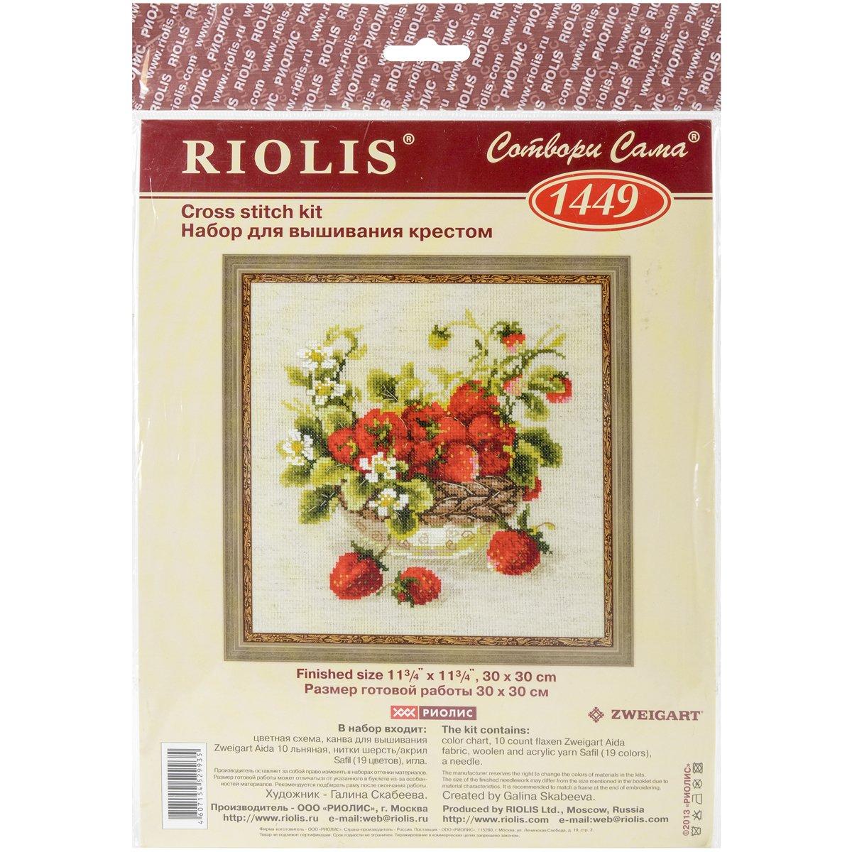 "Counted Cross Stitch Kit RIOLIS 1449 /""Garden Strawberry/"""
