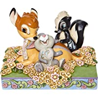 """Jim Shore Disney Traditions 6008318 Bambi and Friends in Flowers Figurine 4"""" H"""