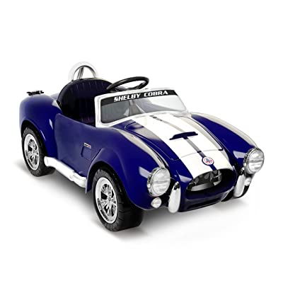 Kid Motorz 6V Shelby Cobra One Seater Ride On, Blue: Toys & Games