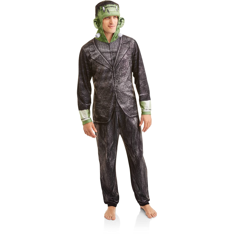 Briefly Stated Adult Mens Frankenstein Onesie Union Suit One Piece Pajama Set