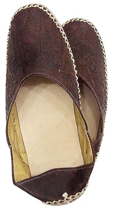 c3af21073 Camel Leather Slipper shoes Sandal Flats Handemade Pharaoh TUT 438 (EU 37    US 6.5
