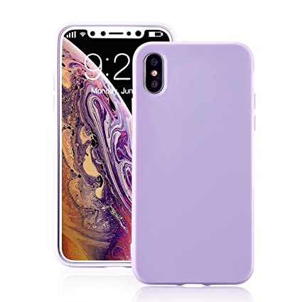 for iPhone Xs Max Lavender Case, technext020 Shockproof Ultra Slim Fit  Silicone iPhone 10S Max 769720f24fd3