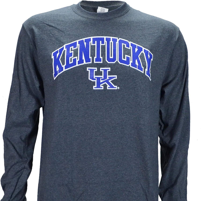 UK Kentucky Arch on a Long Sleeve Dark Heather T Shirt