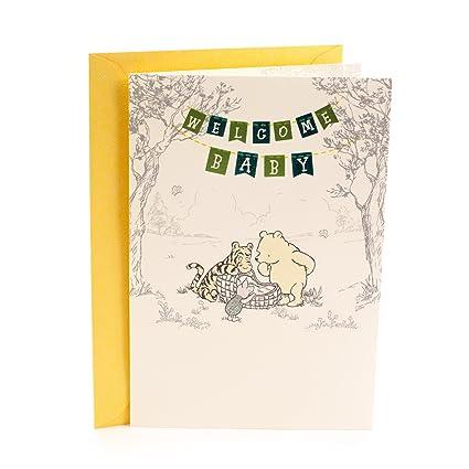 Amazon hallmark baby greeting card for grandparents winnie hallmark baby greeting card for grandparents winnie the pooh welcome baby m4hsunfo