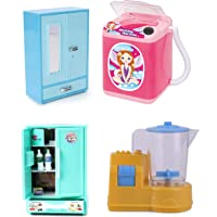 RATNA'S Premium Quality 4 in 1 Combo Washing Machine,STOREWELL,Mixer & Refrigerator Toys for Kids. The Best Pretend Play Toys for Hours of Fun.(Assorted Colours)