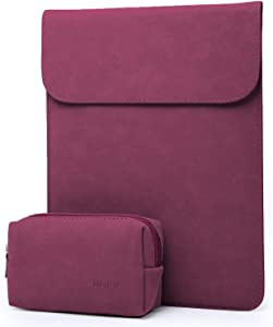 HYZUO 13 Inch Laptop Sleeve Case Compatible with 2020 2019 2018 MacBook Air 13 A2179 A1932/ MacBook Pro 13 2016-2020/ iPad Pro 12.9 2018 2020/ Dell XPS 13/ Surface Pro X 7 6 5 4 3, Wine Red
