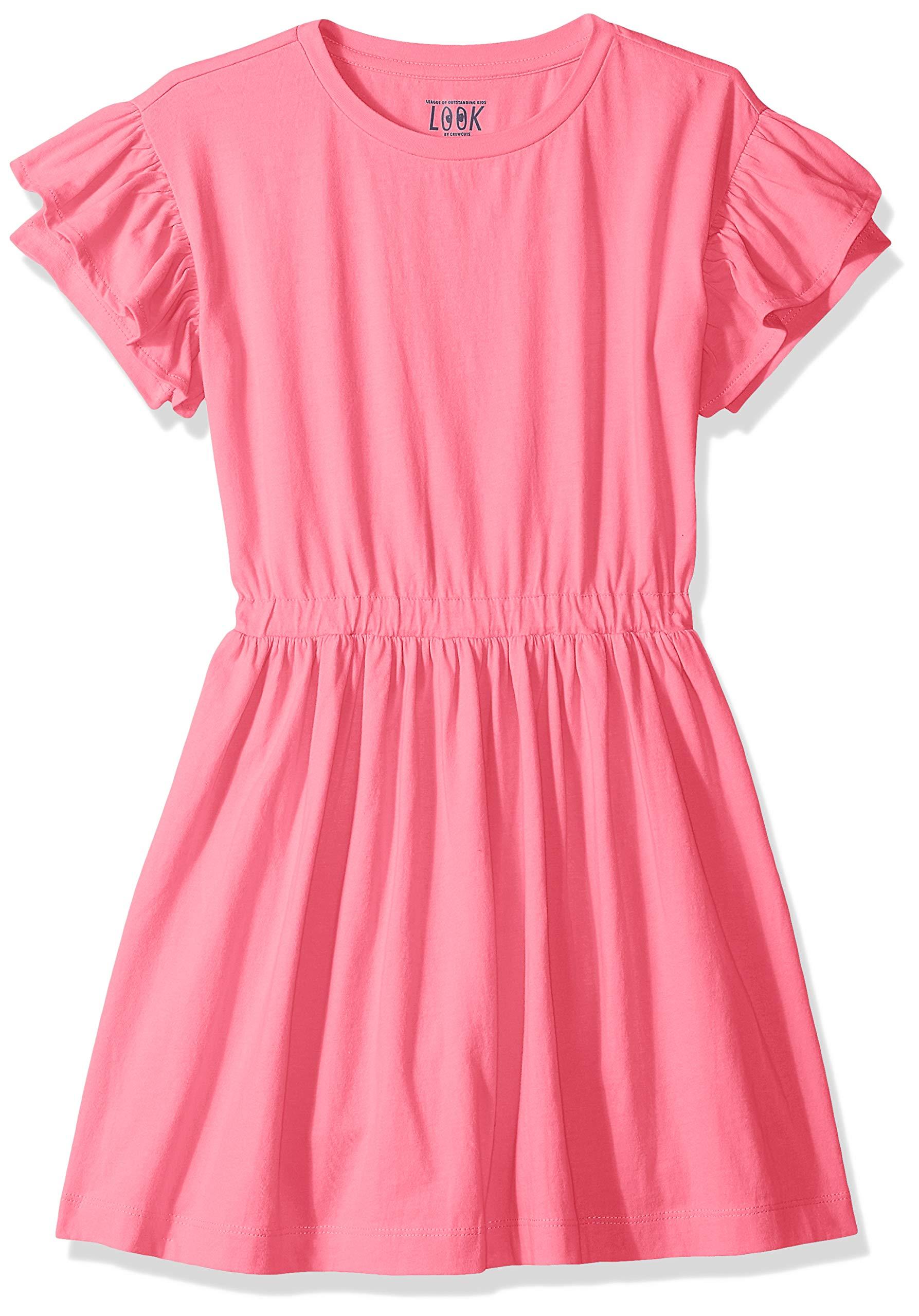 LOOK by crewcuts Girls Ruffle Sleeve Dress Dress