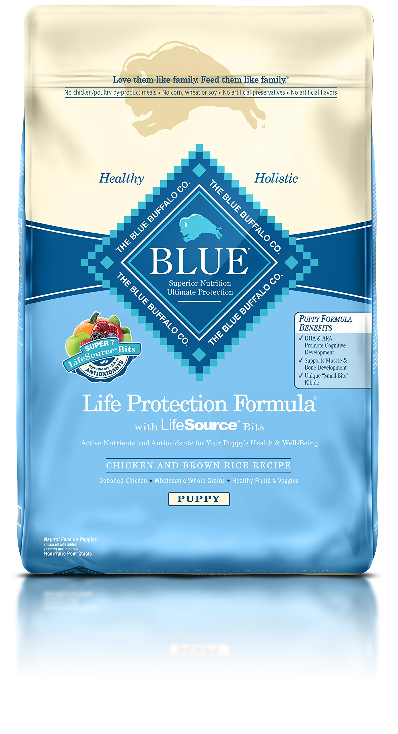 Blue Buffalo Life Protection Dry Puppy Food Chicken and Brown Rice 30 lb