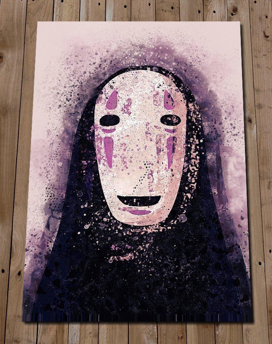 Amazon Com No Face Art Print Studio Ghibli Spirited Away Poster Studio Ghibli Art Wall Art Home Decor Anime Gift Idea Handmade