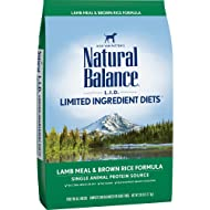 Natural Balance Limited Ingredient Diets Dry Dog Food - L.I.D. Lamb Meal & Brown Rice