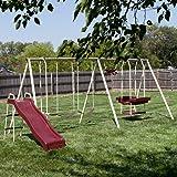 Flexible Flyer Play Park Swing Set w/ Slide, Swings, Air-Glider, & Lawn Swing